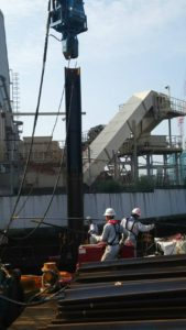 海上工事 シートパイル打設工