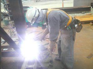 海上工事 溶接工